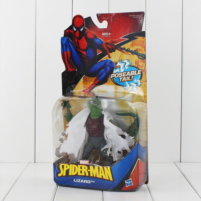 """6"""" 15cm Marvel Super Heroes The Avengers <font><b>Spider-Man</b></font> Spiderman <font><b>Classic</b></font> Heroes Lizard With Poseable Tail PVC Action Figure Gift"""