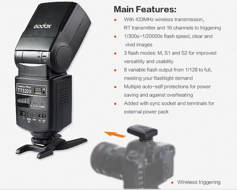 Godox TT560II Camera Flash with 16 Channels transmitter (16)