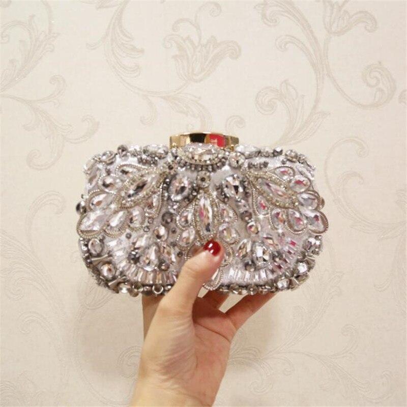 Meloke 2019 High Quality Women Beads Clutch Bags Luxury Diamond Banquet Bags Clutch Purse For Ladies Drop Shipping MN1275