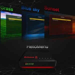 Image 2 - Hellobox 8 odbiornik satelitarny DVB T2/C Combo TV, pudełko telewizor z dostępem do kanałów telewizji satelitarnej odtwarzania na urządzeniach przenośnych telefon wsparcie z systemem Android/IOS do zabawy na świeżym powietrzu DVB S2