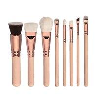 8pcs Professional Makeup Brushes Sets Tools Eyeshadow Blusher Powder Fundation Eyeliner Mask Nail Oil Brush Synthetic