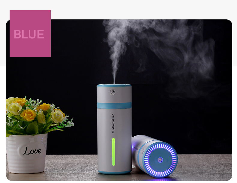 240ML Cup Shape Air Humidifier USB Electric Macromolecular Atomizer With Dreamlike Night Light Super Quiet Design Fine Mist Maker