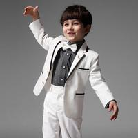 White Children Boy Suit Autumn Spring Boys Formal Suits Performance Birthday Clothing Outwear Pants Shirt