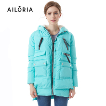 AILORIA 2016 Women Winter  Wadded Jacket Female Outerwear Thickening red Down Cotton Wadded Coat Women ladies' Parkas Plus 5XL