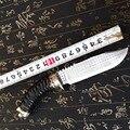 Высококачественный армейский нож для выживания  высокопрочные ножи для дикой природы  основной нож для самозащиты кемпинга  охоты  инструм...