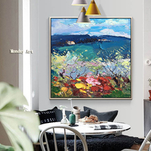 Large Size bestart Hand Painted Landscape Oil Painting on Canvas artwork painting Wall Art Pictures For Living Room Home Decor стоимость