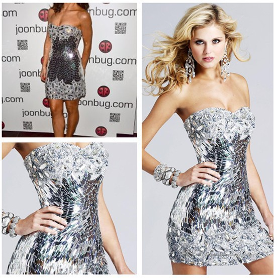 Aliexpress.com : Buy Free shipping 2013 Sexy Short Sequins Silver ...