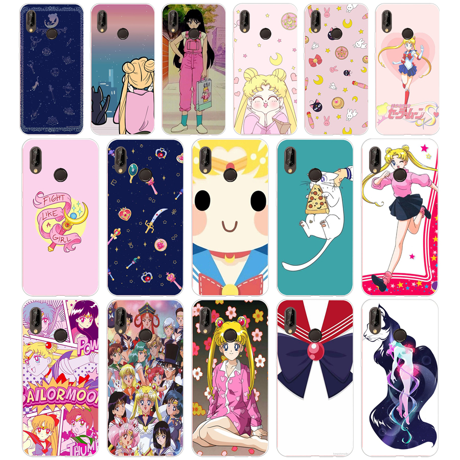 Cellphones & Telecommunications Humble 220sd Fashion Cartoon Sailor Moon Soft Silicone Tpu Cover Case For Honor 10 Huawei P Mate 10 20 Lite Y5 Y6 Prime 2018 To Invigorate Health Effectively Half-wrapped Case