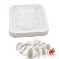 White Bubbles Cloud Shape Silicone Cake Mould 3D Moulds Dessert Mousse Baking Tools