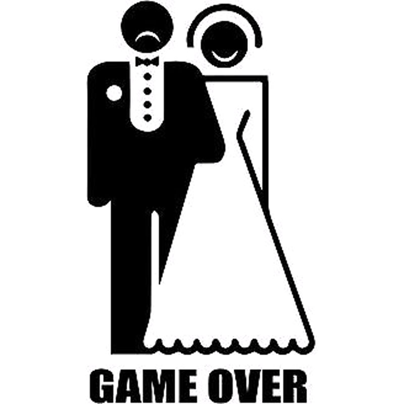 9X16CM GAME OVER Wedding Originality Vinyl Decal Car-styling Car Sticker