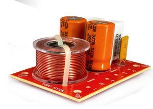 Image 4 - 2pcs 80w 2 way hi fi áudio agudos graves alto falante divisor de freqüência estéreo filtros crossover para 4 8ohm alto falante