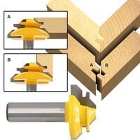 """2 3 3 1/2"""" Shank Wood Cutter Router Bit 45 Degree Lock Miter Milling Cutter Width 1-3/8"""" Wood work Tenon Tool For Woodworking Tool (3)"""