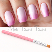1PCS Pink Acrylic UV Gel Polish Nail Art Painting Drawing French Negative Space Nails Tips Pen Brush Fish Tale Design DIY Tools