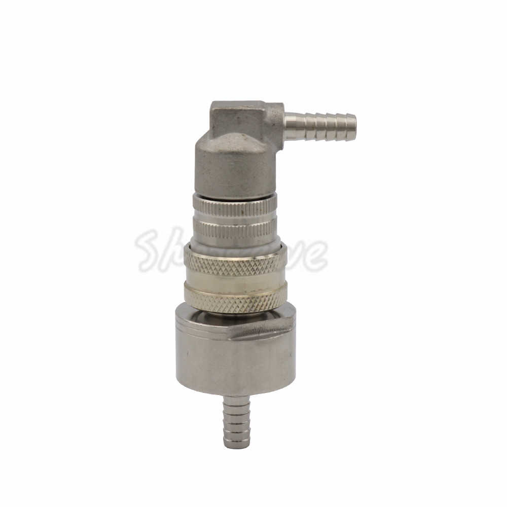 Homebrew Kegging Stainless Carbonation Cap w 516 Barb - Cornelius Keg Ball Lock Gas Disconnect fit soft drink PET bottles  (4)