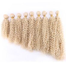 100 gram one piece Kinky curly High temperature Synthetic hair extensions 613# hair weaving
