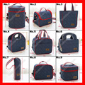 (50pcs/lot) 9 sizes available denim insulated thermal cooler  lunch bag for kids and women