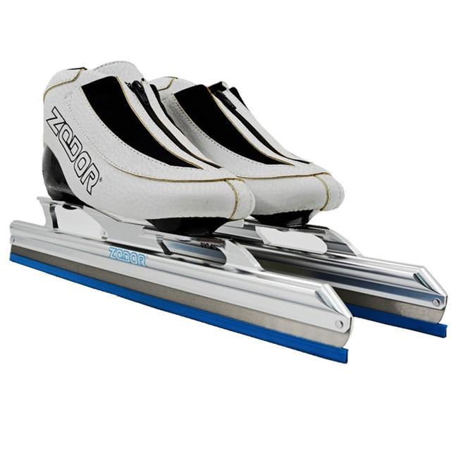 Baru 6 Lapisan Serat Karbon Profesional Zodor Tetap Ice Skates Sepatu 62-64  430 Mm 9e0825d9f5