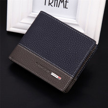 High Quality Mens Leather Bifold Money Card Holder Wallet Coin Purse Clutch Pockets