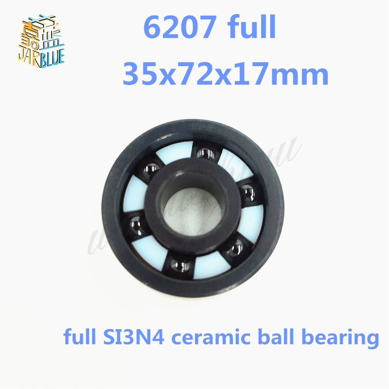 Free shipping 6207 full SI3N4 ceramic deep groove ball bearing 35x72x17mm 6207 full si3n4 ceramic deep groove ball bearing 35x72x17mm