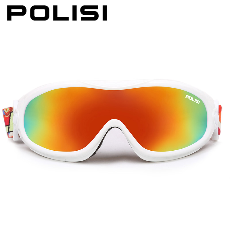 Prix pour POLISI Hiver Coupe-Vent Anti-Brouillard Ski Lunettes Hommes Femmes UV400 Moto Neige Lunettes de Ski Snowboard Planche À Roulettes Patin Lunettes
