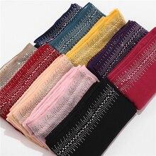 10 teil/los Viskose Weiche Baumwolle Schal Mit Diamant frauen Plain Perlen Hijab Schal Weibliche Hijab Schal Schal Wrap Muslim hijabs