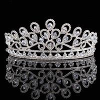 Boda nupcial tiaras 2017 nueva llegada cristales Brillantes Princesa rhinestone Peacock coronas Accesorios de pelo hg00194