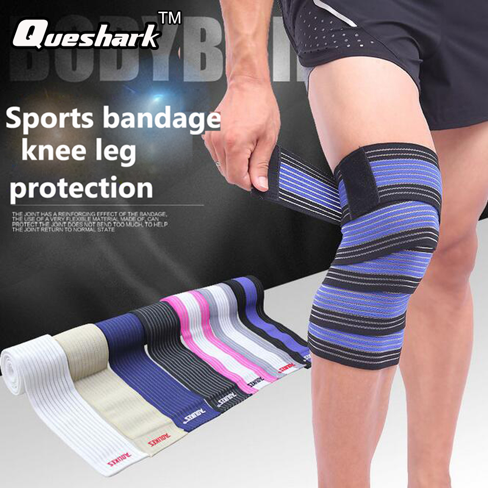 1 Pcs 90/180cm Sports Elastic Bandage Knee Support Leg Compression Calf Kneepad Weightlifting Basketball Wrist/Ankle Support  okulary wojskowe