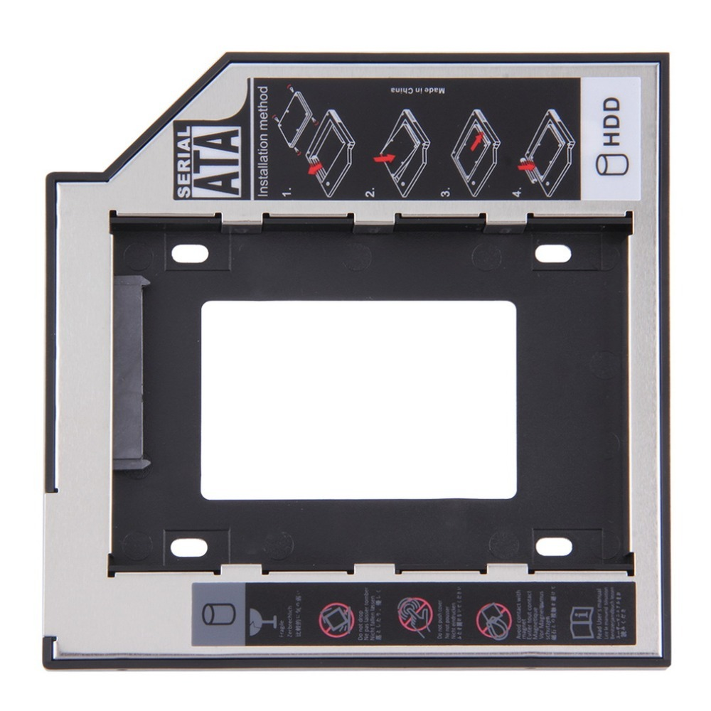 Universel 2.5 2nd 9.5mm Ssd Hd SATA disque dur disque dur HDD Caddy adaptateur baie pour Cd Dvd Rom optique baie chaude nouveau