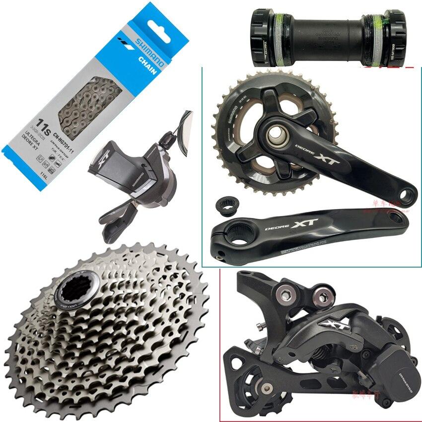 SHIMANO DEORE SLX XT M8000 11 S vitesse 11-42 T 11-46 T groupe 6 pièces vélo manette de vitesse levier & arrière Dearilleur Cassette chaînes supports