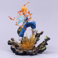 Anime Dragon Ball Z Vegetto Son Goku Vegeta Action Figure Dragonball Super Saiyan Figuras PVC Model Toys 19cm juguetes