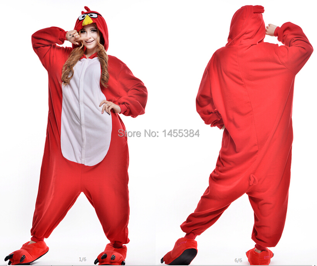 halloween costumes for women animal onesies anime red bird pajamas cosplay costume home sleepwear casual for