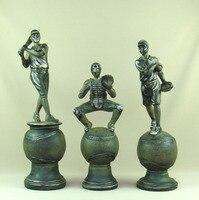 Handmade Baseball Batter Statue Pitcher Sculpture Catcher Figurine Sports League Trophy Souvenir Decor Gift and Craft Ornament