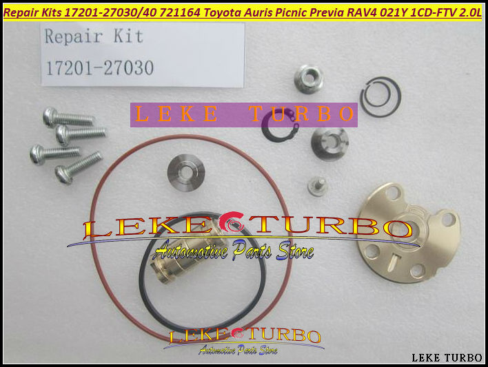 где купить Turbo Repair Kit rebuild GT17 17201-27030 17201-27040 721164 Turbocharger For TOYOTA Auris Picnic Previa RAV4 021Y 1CD-FTV 2.0L по лучшей цене