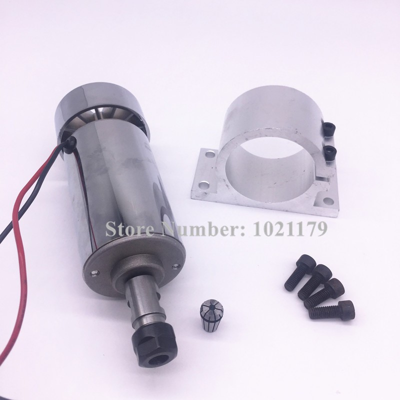 400W CNC spindle kit ER11 chuck DC 12-48v 120mm 400W Spindle motor + Spindle holder + ER11 collet for CNC Engraving Machine 2mm er11 spring collet for cnc workholding engraving