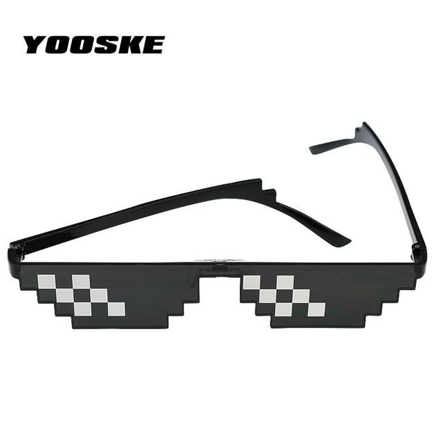 41eb05b48e YOOSKE Deal With It Sunglasses Women Men Thug Life Glasses 8 Bit Pixel Sun  Glasses Black