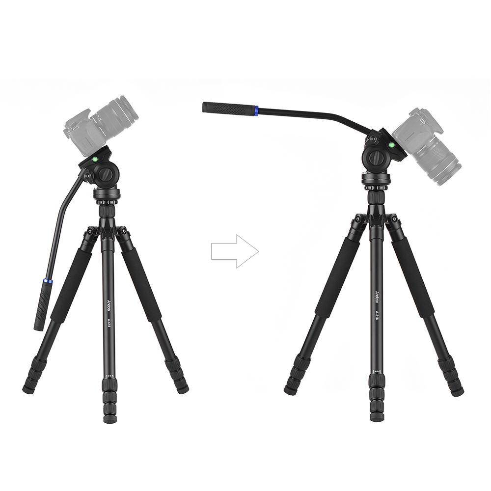 "Andoer A 618 180cm/71"" Multi functional Camera Tripod Video Monopod w/ Hydraulic Damping Head for Canon Nikon DSLR Sony A7 ILDC-in Tripods from Consumer Electronics    3"