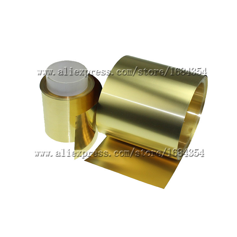 04 x 100 x mm 04mm thickness strip thin latten flitter gold brass sheet yellow copper foil brass plate