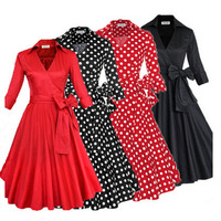 2016 Summer Audrey Hepburn Style 1950s 60s Vintage Retro Sleeve Rockabilly Pinup 50s Swing Wedding Party