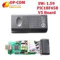 Профессиональный Диагностический Инструмент Для Opel OP COM OP-COM С PIC18F458 V1.59 чип V5 печатной платы Авто Сканер OP-com бесплатная доставка