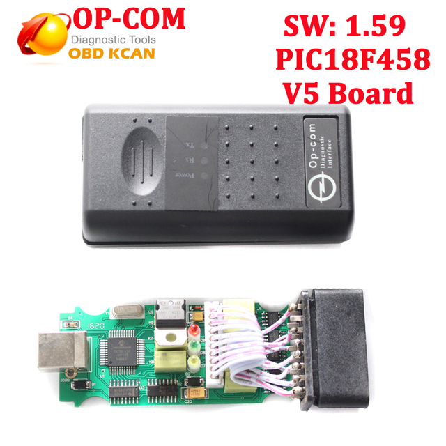 Professional Diagnostic Tool For Opel OP COM V1.59 OP-COM With PIC18F458 chip V5 pcb board Auto Scanner OP-com free shipping