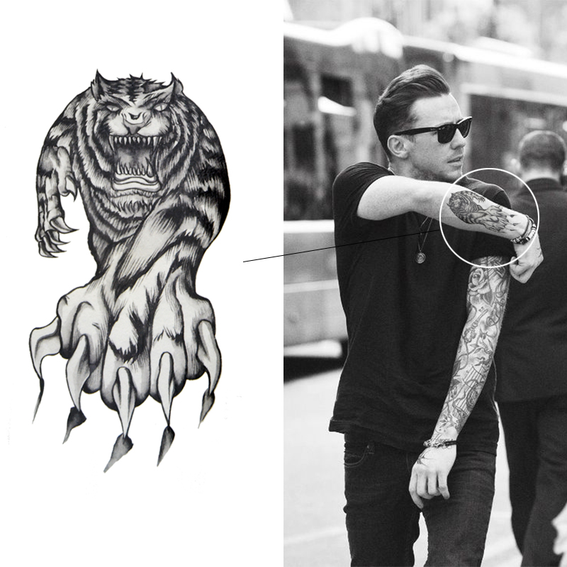 тату  мужское тигр