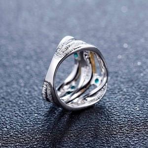 Image 4 - GEMS בלט 0.47Ct טבעי ברקת אבני חן טבעת 925 כסף סטרלינג בעבודת יד להקת טוויסט טבעות לתכשיטי נשים