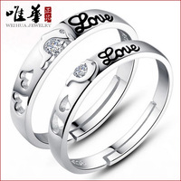 Dolphins Love Korean Silver Jewelry Knot S925 Sterling Silver Ring Of Female Lovers Ring For Male