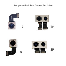 Main Back Rear Camera With Flash Module Sensor Flex Ribbon Cable For iPhone 7 Plus 8 8P Replacement Parts 100% Test Working