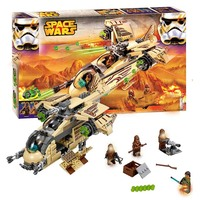 BELA 10377 Building Blocks Star Wars Figures Wookiee Gunship 75084 Model Bricks Educational Toys for Children Gifts