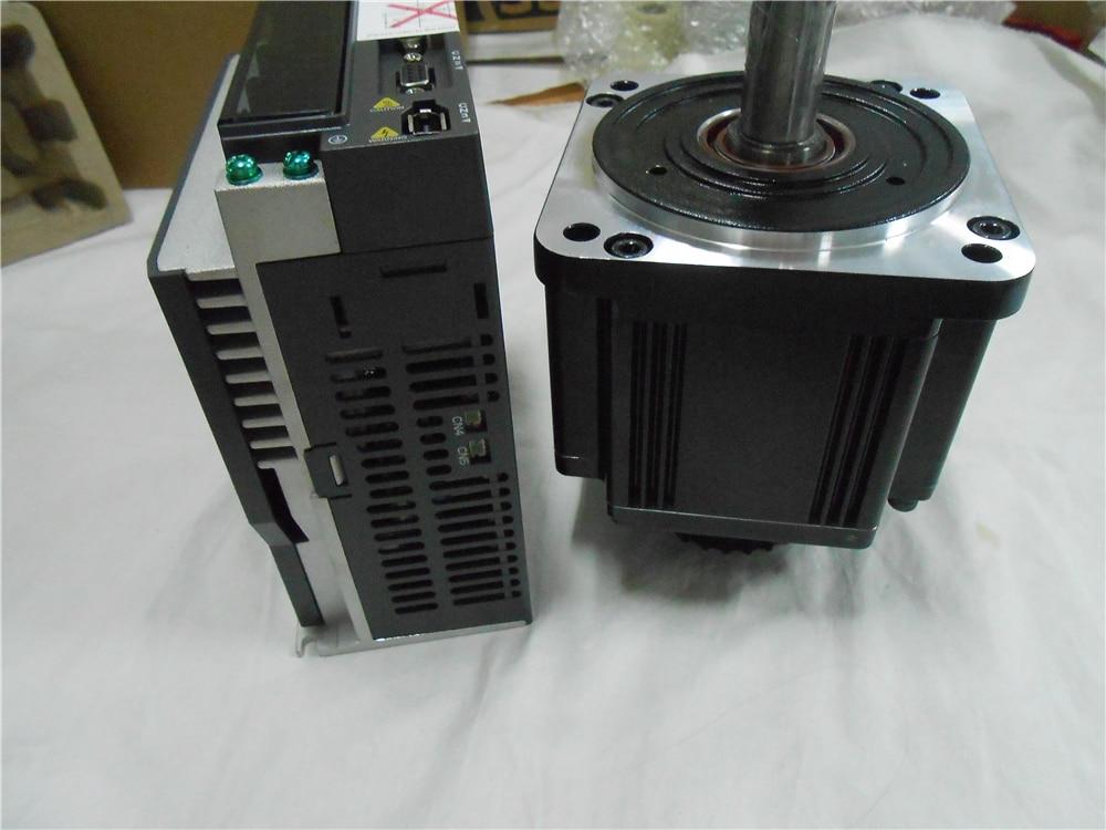 CNC 2000W Delta 2KW AC Servo Motor 220V 6.37NM 12A 110mm with 3M Cable ECMA-C21020RS+ASD-B2-2023-B new original asd b2 2023 b ac sevor drive 3ph 220v 2kw 13 4a