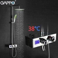 GAPPO смеситель для душа ЖК дисплей цифровой Дисплей Душ смеситель воды термостатический водопроводной воды настенное крепление Torneira де chuveiro