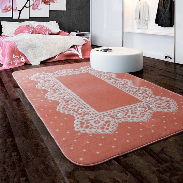 Lace element design rugs for living room slip resistant area rug ...