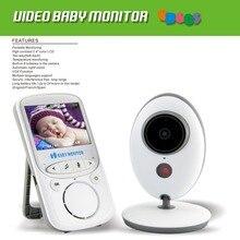 Bezprzewodowa elektroniczna niania 2.4GHz, 2.4 cala LCD 2 Way Audio Talk Night Vision kamera ochrony opiekunka do dziecka pomiar podczas snu UK