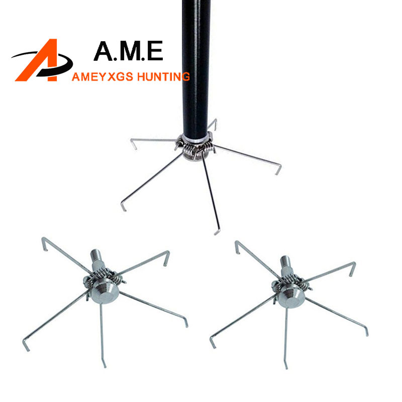 Cheap Hunting Bird Arrow Tips 12 Pcs Metal Arrow Points With 5 Paws Archery HuntingTarget Broadheads Free Shipping
